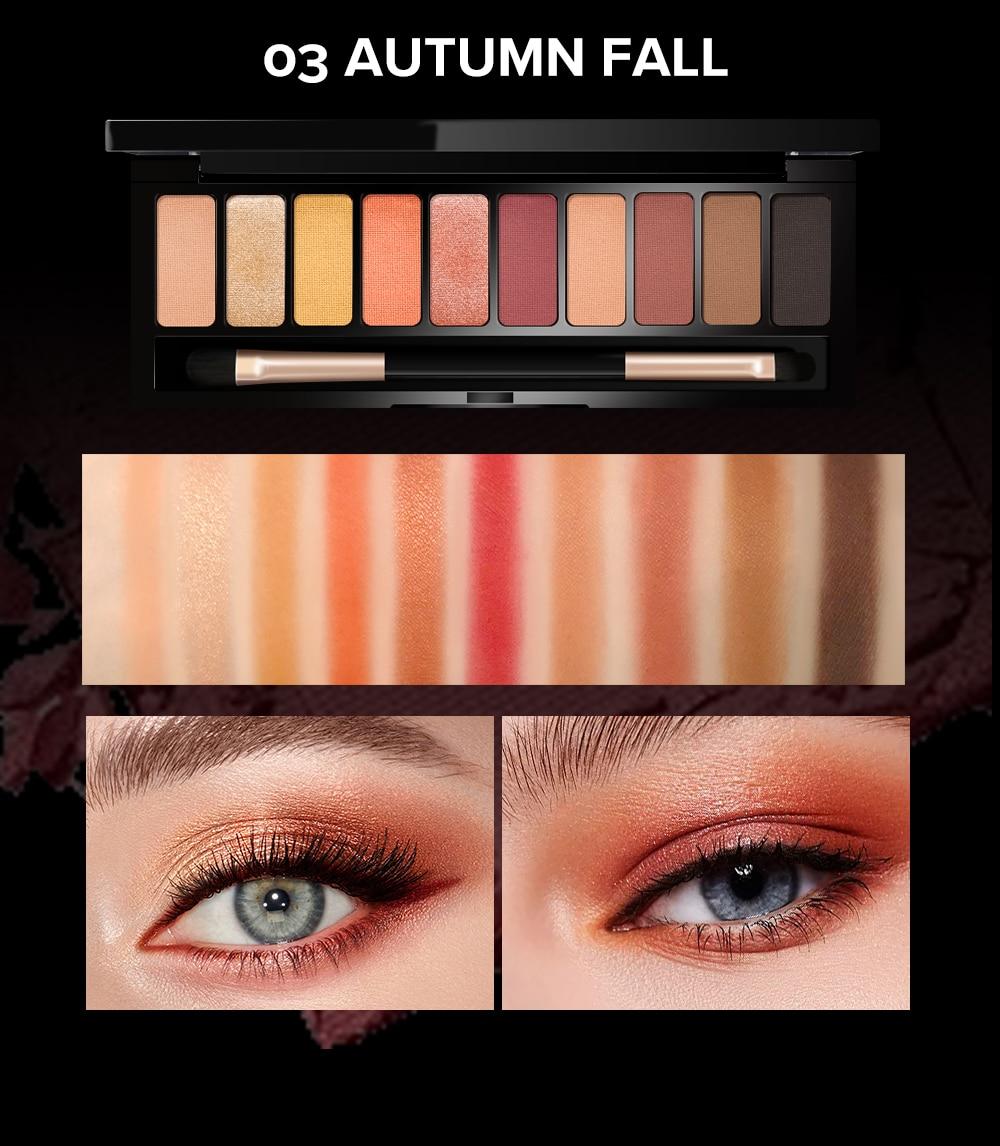 compõem 10 cores cetim cosméticos
