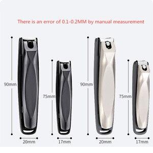 Image 5 - Coupe ongles en acier inoxydable noir, à la maison, outil de coupe ongles, pour adultes, placé dans les bagages