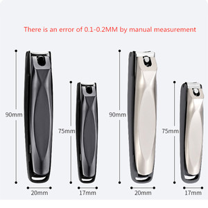 Image 5 - Fashion Home black stainless steel nail clippers nail scissors adult nail clippers tool Put in the luggage