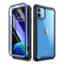 For iPhone 11 Case 6.1 inch (2019 Release) i BLASON Ares Full Body Rugged Clear Bumper Cover Case with Built in Screen Protector