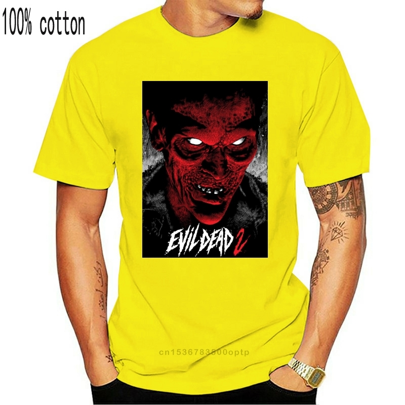 Mal morto 2 v 12 t camisa filme preto cartaz horror todos os tamanhos S-3Xl rua camiseta