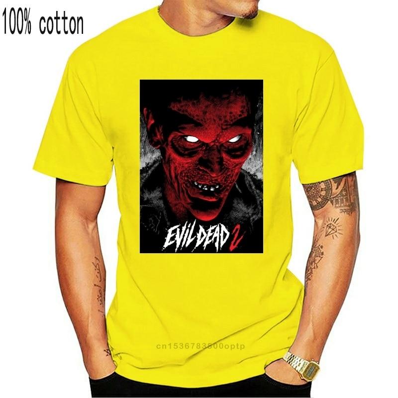 Evil ölü 2 V 12 T Shirt siyah film afiş korku tüm boyutları S-3Xl sokak Tee gömlek