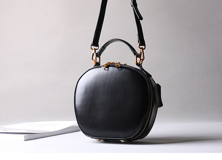 2019 новая кожаная сумка в стиле ретро, сумка через плечо, модная маленькая круглая сумка - 6