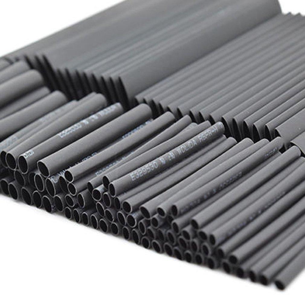 127//328//530PCS Black Shrink Tubing Environmentally Friendly Flame Retardant Shrink Tube Heat Shrinkable Tube