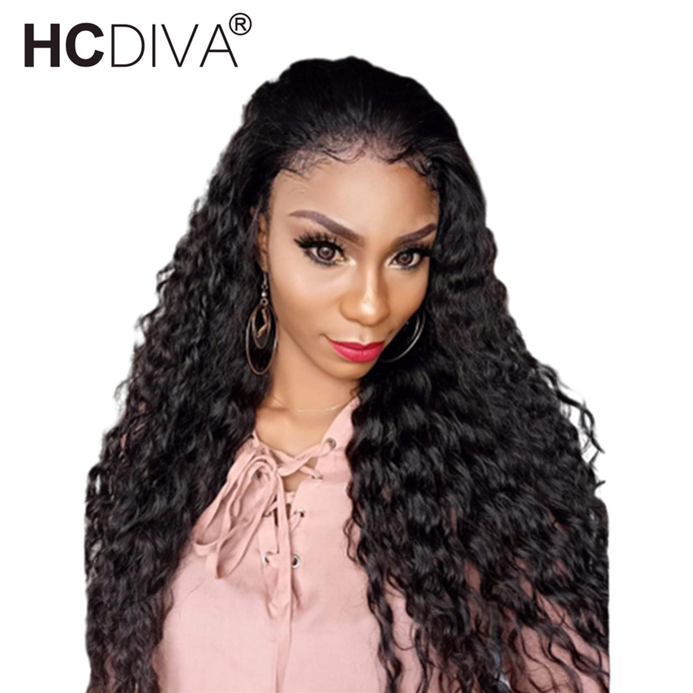360 Lace Front Wig Pre Plucked With Baby Hair Malaysian Deep Wave Lace Front Wig 10