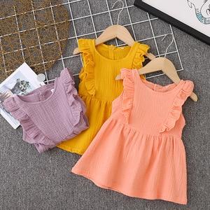 Summer Girl Dress Ruffles Children Dress Candy Color Kids Dresses for Girls Fashion Girls Clothing