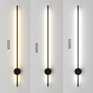Image 5 - מודרני מינימליסטי LED מנורת רצפת נורדי עומד מנורות סלון שחור אלומיניום Luminaria Tripot מנורות Stand אור דקו סלון