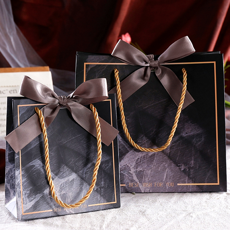 10pcs Marble Gift Bag Box for Party Baby Shower Paper Chocolate Boxes Package/Wedding Favours Birthday gifts papieren candy Boxe