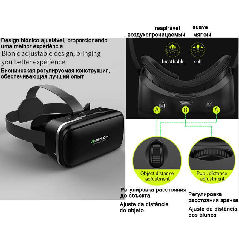 Shinecon 6,0 Casque VR realidad Virtual 3 D gafas 3 D 3D gafas casco auricular para iPhone Smartphone Android Teléfono Inteligente ESTÉREO