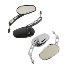 Motorcycle Universal 8mm Rear View Side Mirrors For Harley Touring Road King Street Glide Softail Fat Boy Iron 883