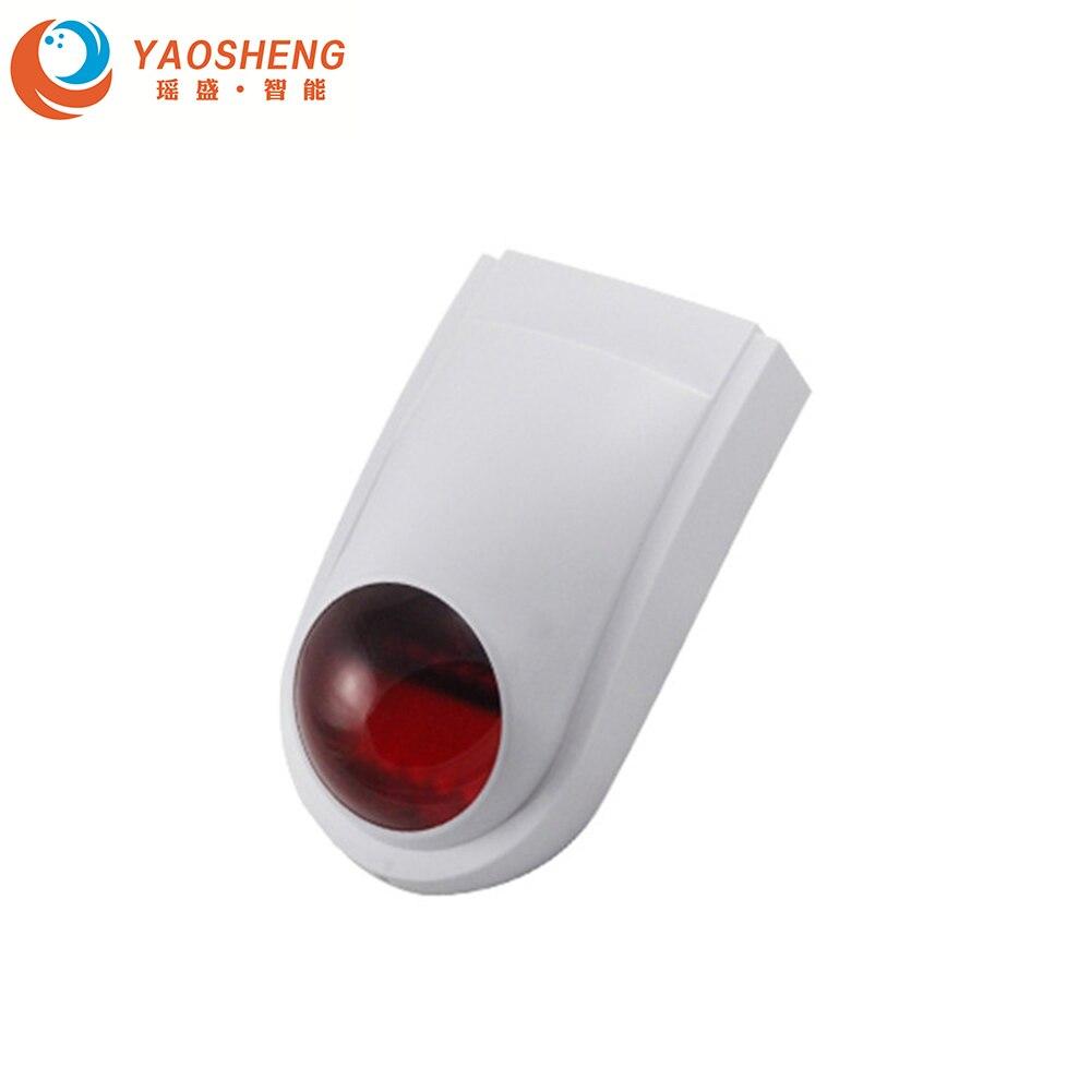 Mini Sirene de Alarme Sensor De 433mhz Sem Fio Strobe Siren Strobe para GSM Standalone Hotel Sistema Do Painel de Alarme de Segurança Em Casa