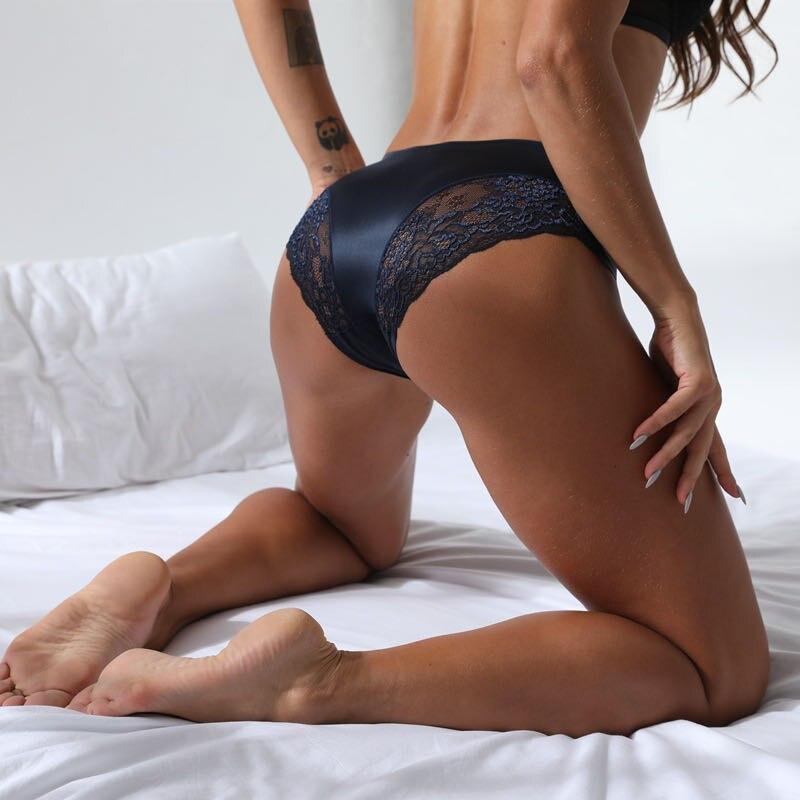 Woman Panties Sexy Lace Plus Size Panty Transparent Low-Rise Cotton Briefs Intimates  Transparent Panties New Hot Sale