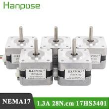 5 adet/çok 4 lead Nema17 step Motor 42 motor Nema 17 motor 42BYGH 1.3A (17HS3401) motor 3D yazıcı