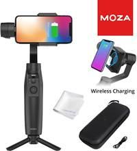 Moza mini-mi 3-axis smartphone cardan de carregamento sem fio estabilizador, vários sujeitos de detecção, modo de início, timelapse