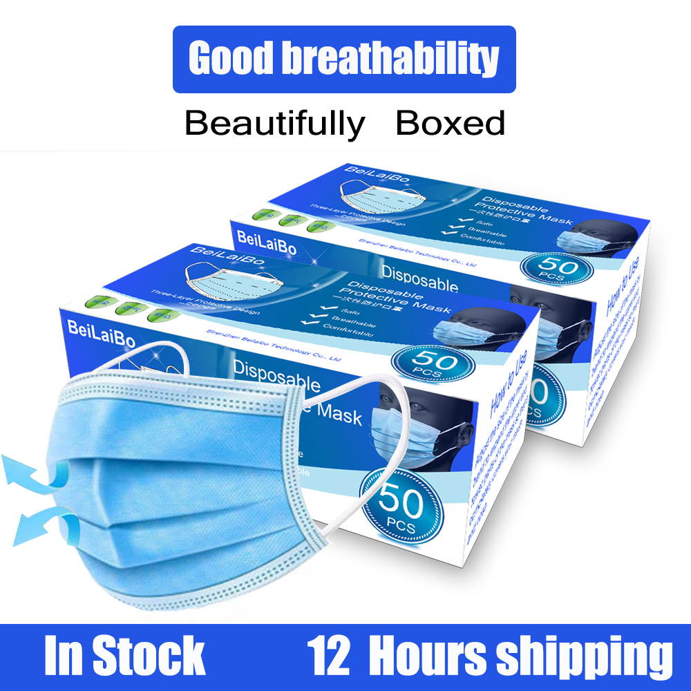 Mascarillas Protective Mask Disposable Masks Anti-Dust 3 Filter Against Droplet Mouth Face Mask Earloop Protection 20/50pcs