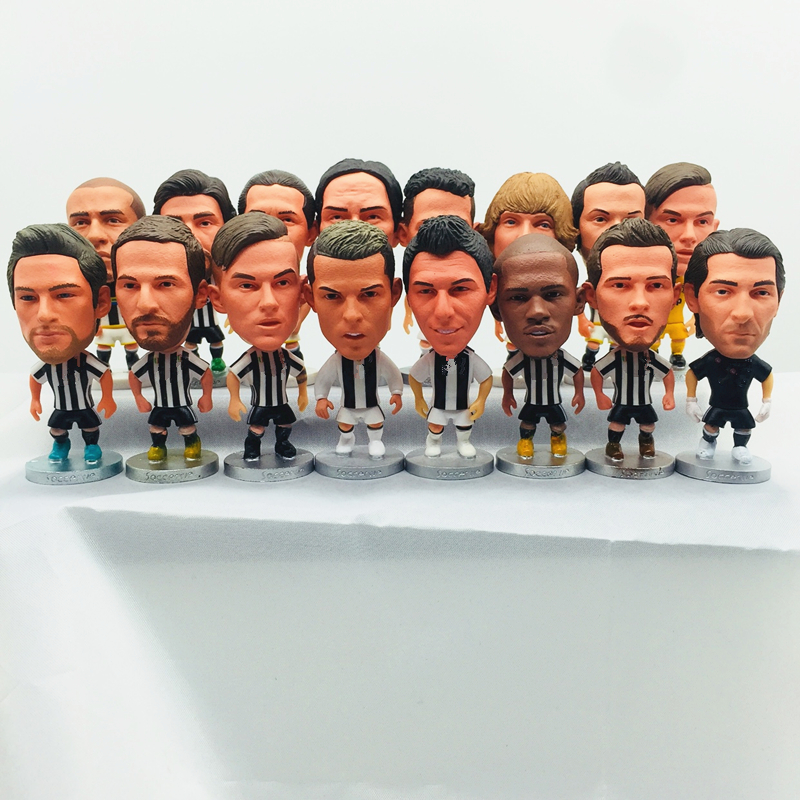 Soccerwe Piero Ronaldo Dybala Buffon Mandzukic Pjanic Cartoon Dolls Soccer Star Figurines