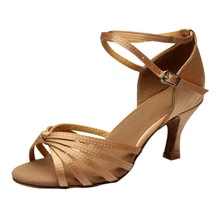 2020 Women's Girl's Lady's Latin Ballroom Sandals Shoes Satin/PU Professional Salsa Tango Party Shoes Training Shoes