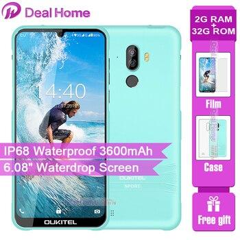 Перейти на Алиэкспресс и купить OUKITEL Y1000 6,08 дюйм19,5: 9 Android 9,0 мобильный телефон MT6580P 2G RAM 32G ROM 3600mAh аккумулятор смартфон с отпечатком пальца