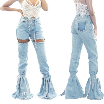 Womens Ladies Skinny Faded Ripped Casual Slim Fit Cool Denim Cotton Jeans Skinny Faded Ripped Slim Fit Cool Denim Jeans #35 фото