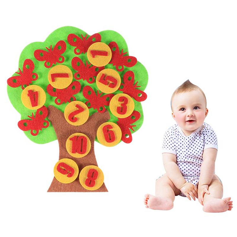 Diy Weave Cloth Early Learning Education Toys Teaching Aids Apple Trees Math Toys Teaching Kindergarten Manual