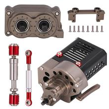 1/10 RC Car Accessories Set Metal Front Motor Gearbox Transfer Case Telescopic Drive Shaft Steering Rod Gear