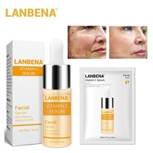 LANBENA Vitamin C Serum Essence Mask Remove Dark Spot Freckle Speckle Fade Agele