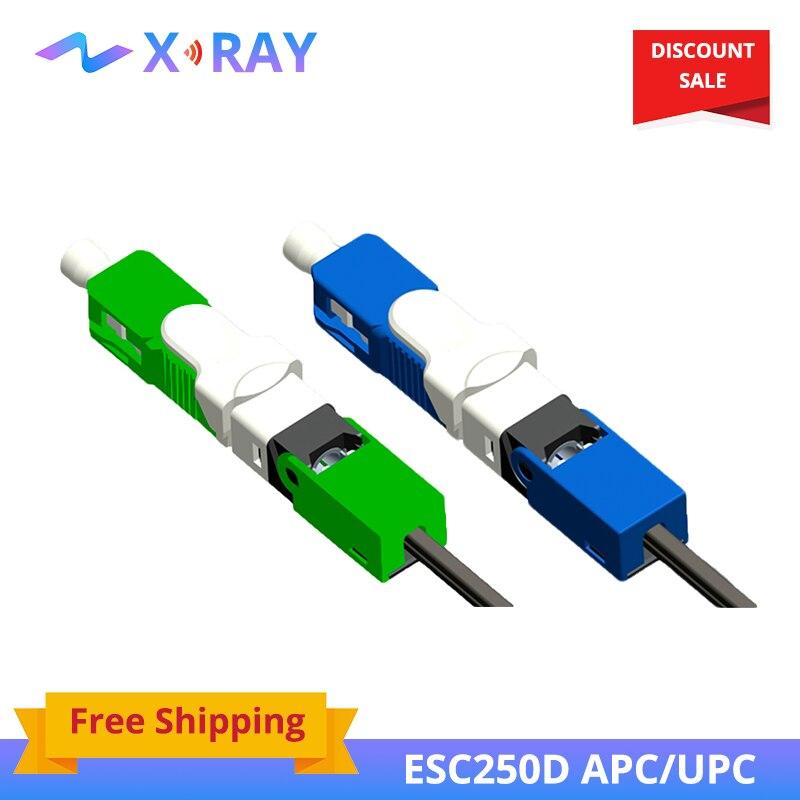 200 pcs/paquet FTTH ESC250D APC unimode Fiber optique SC APC rapide connecteur d'assemblage de champ rapide