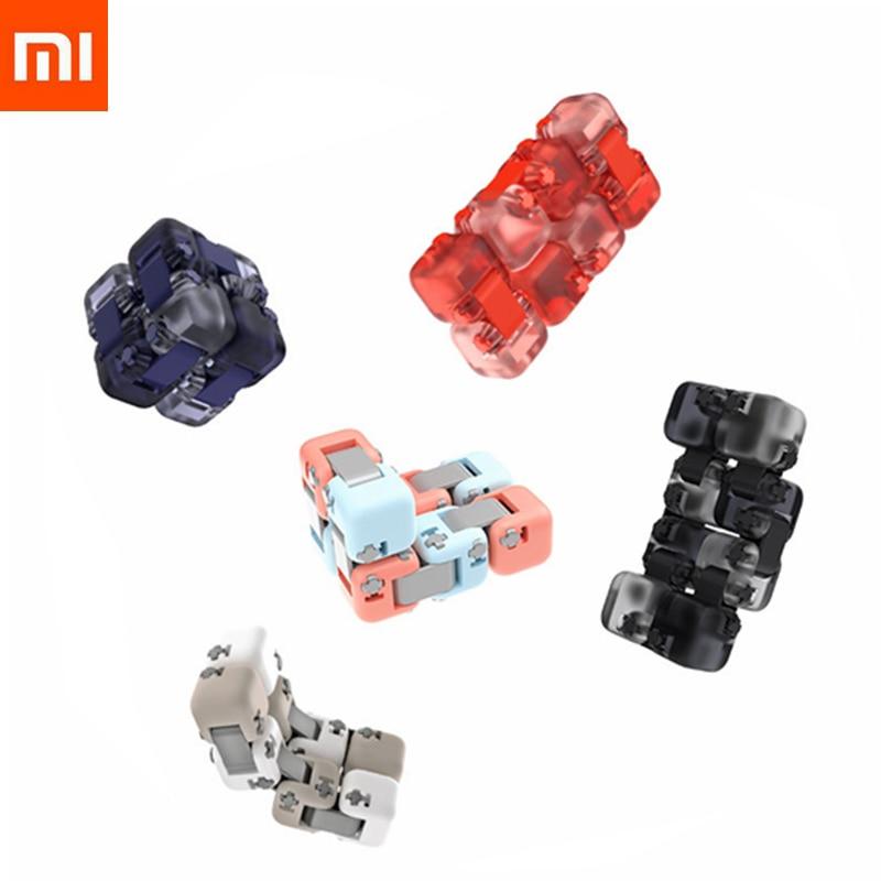 Original 5colors Xiaomi Mitu Cube Spinner Finger Bricks Portable Smart Finger Toys Intelligence Toys For Kids Drop Shipping