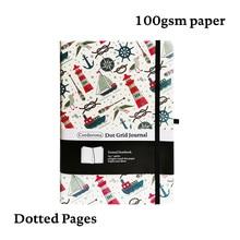 Segel A5 Gepunktete Notebook Dot Grid Journal Leuchtturm Hard Cover Elastische Band Reise Tagebuch Planer