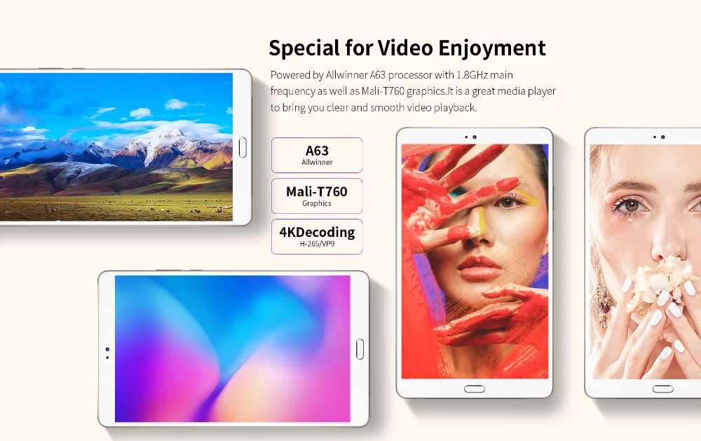 Teclast M8 8.4 inç 2560x1600 dört çekirdekli 4K Video g-sensor tablet 3GB RAM 32GB ROM Wifi çift kamera Android Tablet