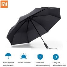 Xiaomi Mijia אוטומטי גשום מטרייה גשום שמש קיץ אלומיניום Windproof עמיד למים UV שמשייה שמשייה איש אישה החורף