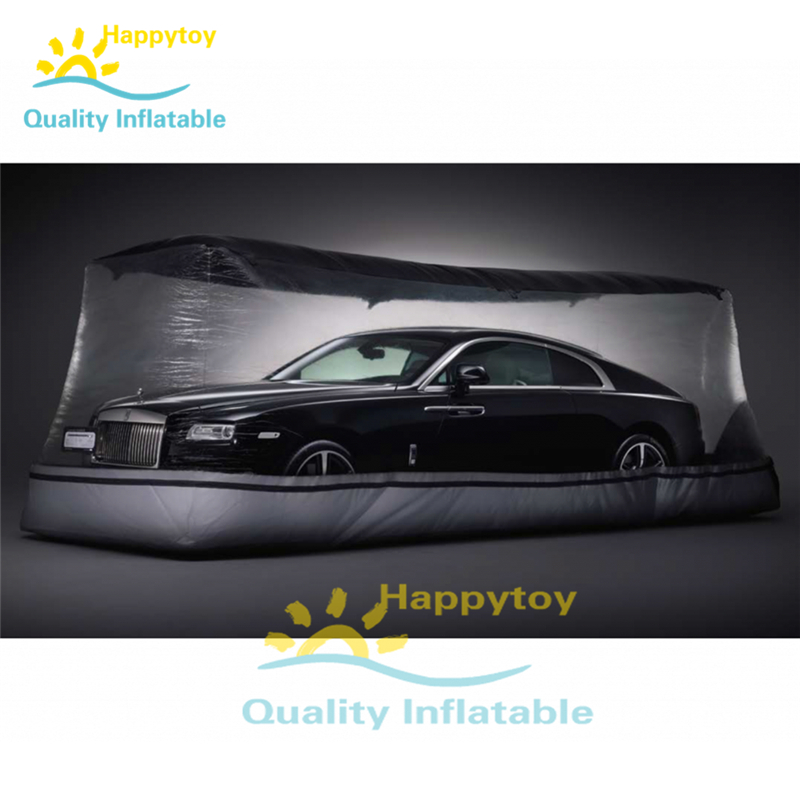 Indoor Inflatable Show Car Garage, Inflatable Display Car Cover Tents, Inflatable Clear Car Garage Capsule Tent