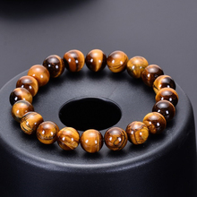 Fashion Minimalist 6mm 8mm 10mm 12mm Tiger eyes Beads Bracelet Men Charm Natural Stone Braslet For Man Handmade Jewelry Pulseras fashion obsidian tiger eye stone bracelets for men new natural stone beads man bracelet men charm yoga jewelry gift 2020 pulsera