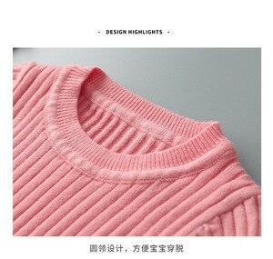 Image 5 - 2020 春の新 6m 4t冬の女の赤ちゃんセットニットboysセットセーター + パンツ 2 個子供服綿ニットスーツ