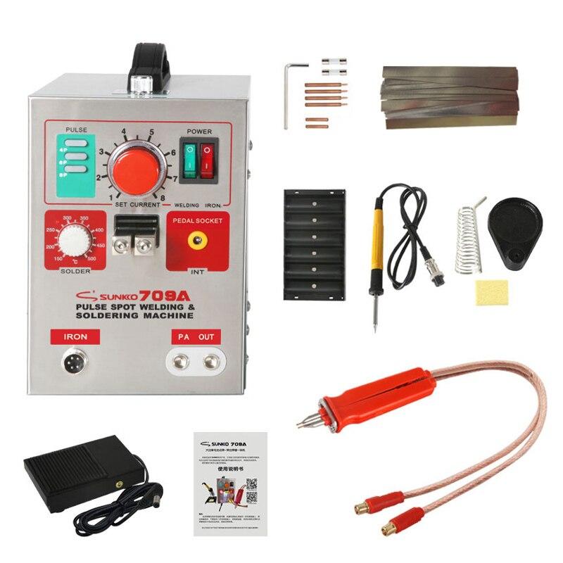 709A SUNKKO Machine Pack For Iron Spot LED Welding Pulse Precision HB Electric 9KW Welder Spot 18650 912 Battery Light 1 70B