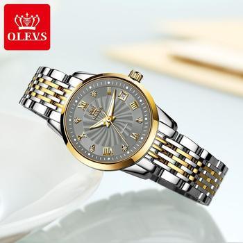 OLEVS Luxury Brand Women Automatic Mechanical Watches Steel Watch Band Watch Waterproof Simple Watch For Women Gift for Women 1