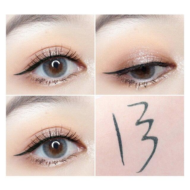 Professional Fast Dry Smooth Waterproof Eyeliner Pencils Eyes Brown Black Color Pigments Liquid Eye Liner Pen Make Up Tools 4