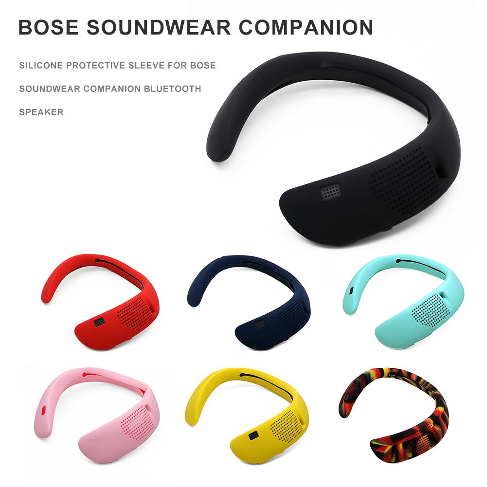 7-Colors Neck Hanging Bluetooth Wireless Headset Protective Case Silicone Carrying Box Cover Shell for Bose Soundwear COMPANION image