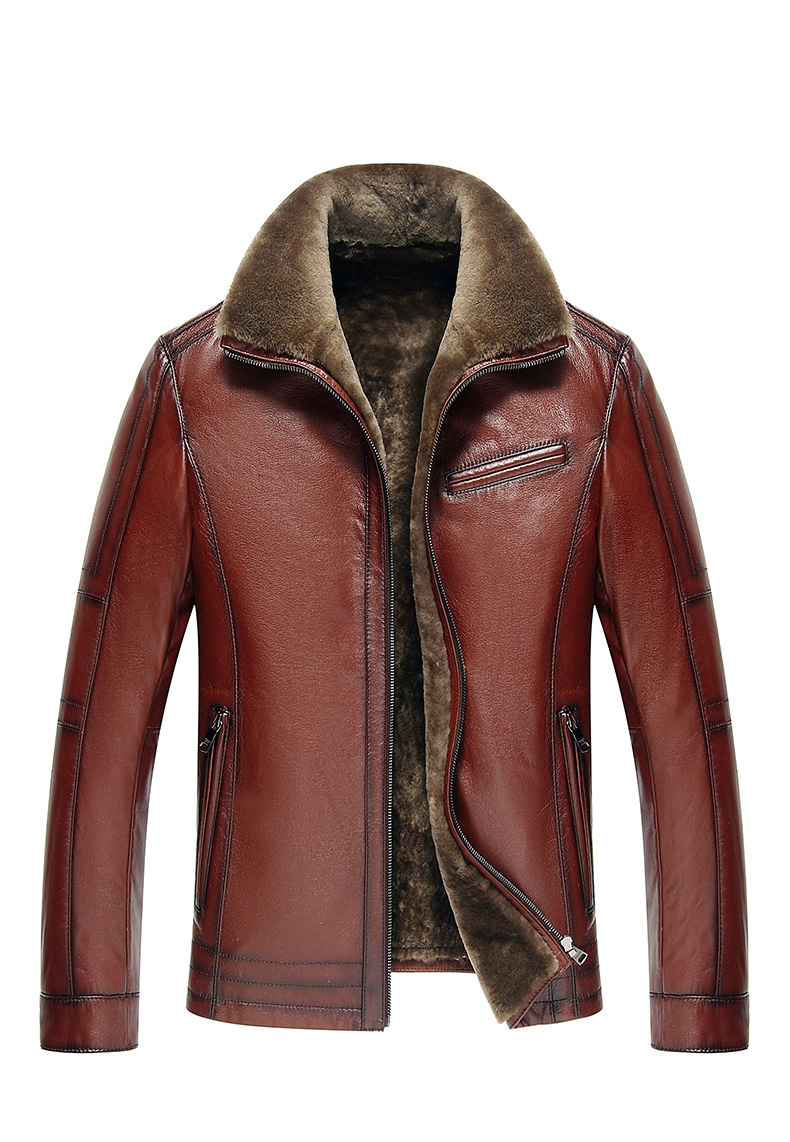 H66978b037eb04e0494809bb5ad4a25240 Men Genuine Leather jackets Brand 2019 New Men Wool Liner Winter Warm Coats Luxury Male Cow leather Outerwear