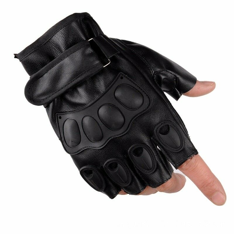 Unisex Half Finger Army Tactical Gloves Outdoor Sports Combat Motocycle Glove One Size 2020 Prevent Hand Injuries