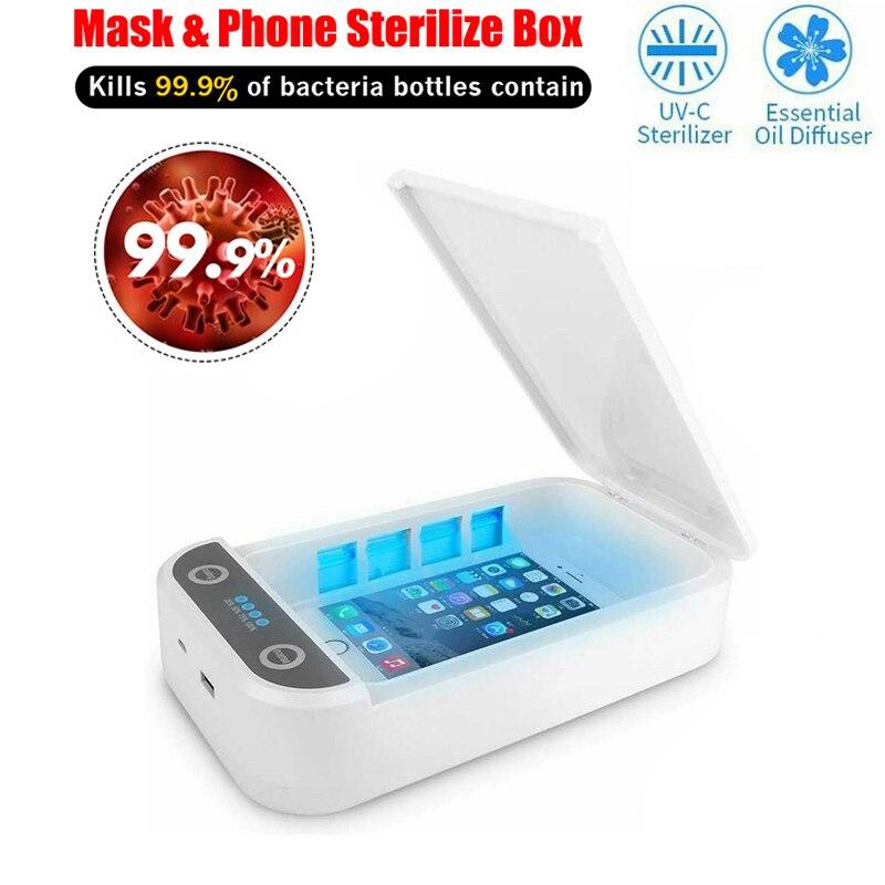 5V UV Sterilizer Box Mask Phone UV Sanitizer UV Bulb Disinfection Cleaning Device with Germicidal li