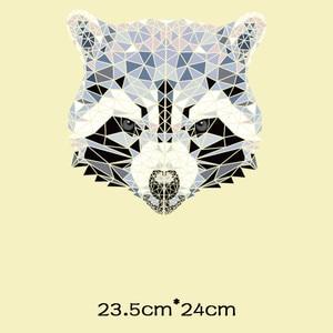 Термо-Стикеры для одежды в полоску с изображением животных, лисы, медведя, термо-Стикеры для одежды, утюжок для передачи одежды с цветочной аппликацией