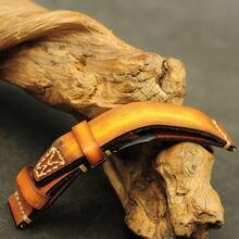 Кожаный ремешок для часов 18 мм 20 22 24 26 сменный crazy horse