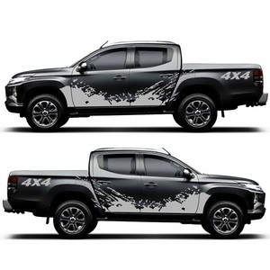 Image 3 - For D MAX Navara Car Sticker 2PCS 4x4 Off Road Graphic Vinyl Decals & Stickers Pickup Truck Decal Styling Accessories for Dodge