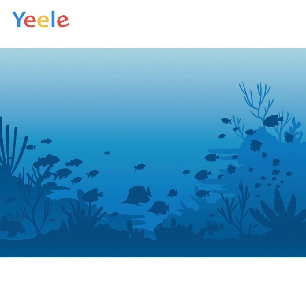 Yeele Sea Bed Undersea Fishes Coral Birthday Party Decoration Photographic Backgrounds Photography Backdrops For Photo Studio