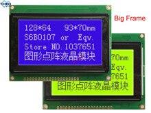 128*64 moduł wyświetlacza lcd STN niebieski tło green screen białe podświetlenie 5v s6b0107 LCM12864C 1 zamiast tego WH12864A LM12864LFW uwalnia statek