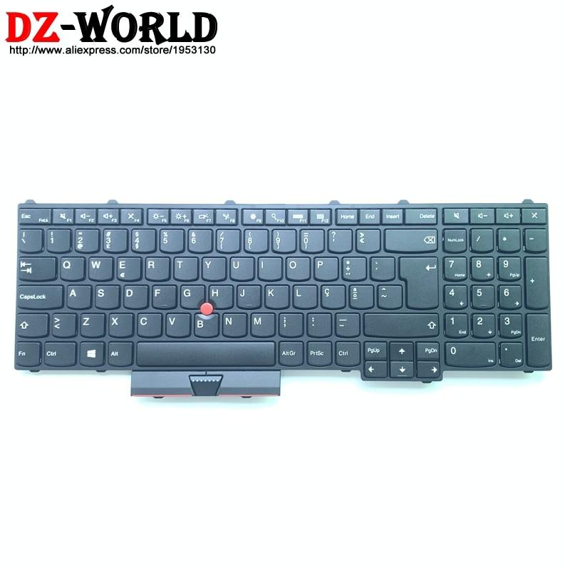 New Original Portuguese Keyboard For Lenovo Thinkpad P50 P70 Laptop Portugal Teclado 00PA269 00PA351
