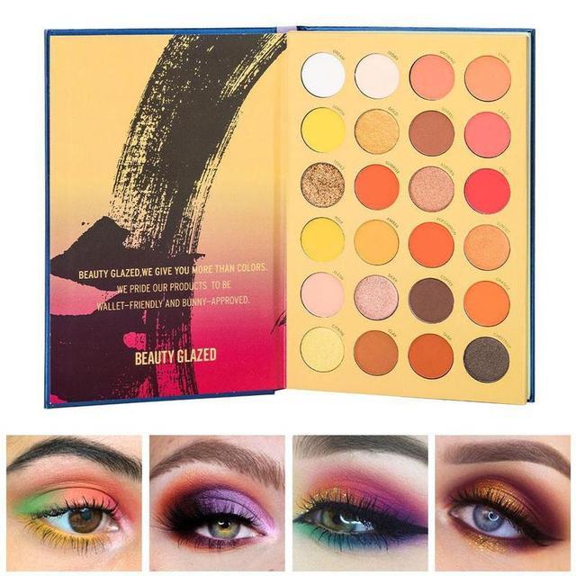 Beauty Glazed-paleta de sombras de ojos, 72 colores, tres capas, estilo libro, maquillaje cosmético, sombra de ojos perlada mate 4