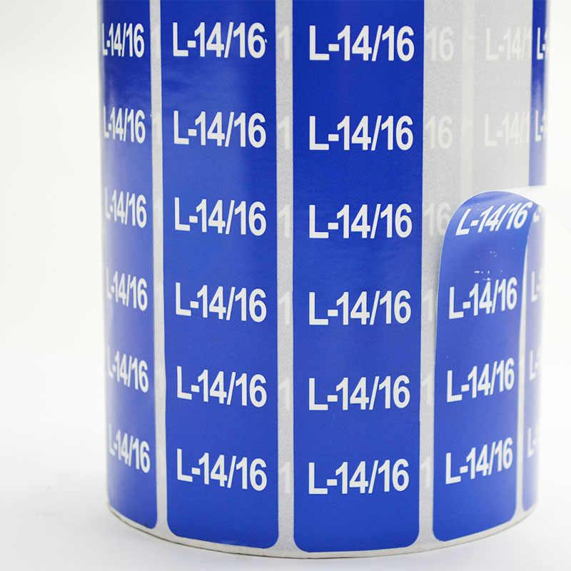 Adesivos personalizados/logotipo da impressão de etiquetas/etiqueta adesiva transparente/PE PVC vinil papel/conteúdo Mutável/Tamanho etiqueta M DIY