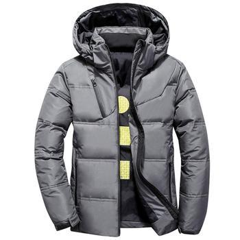 Men 2020 Winter Autumn Short Down Jacket Warm Thicken Hooded Outwear Coat Winter -20 Degree Hooded Coat Jackets Outwear